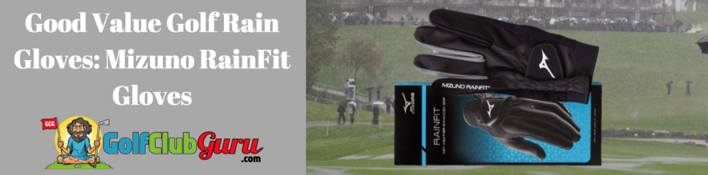 mizuno golf rainfit gloves rain