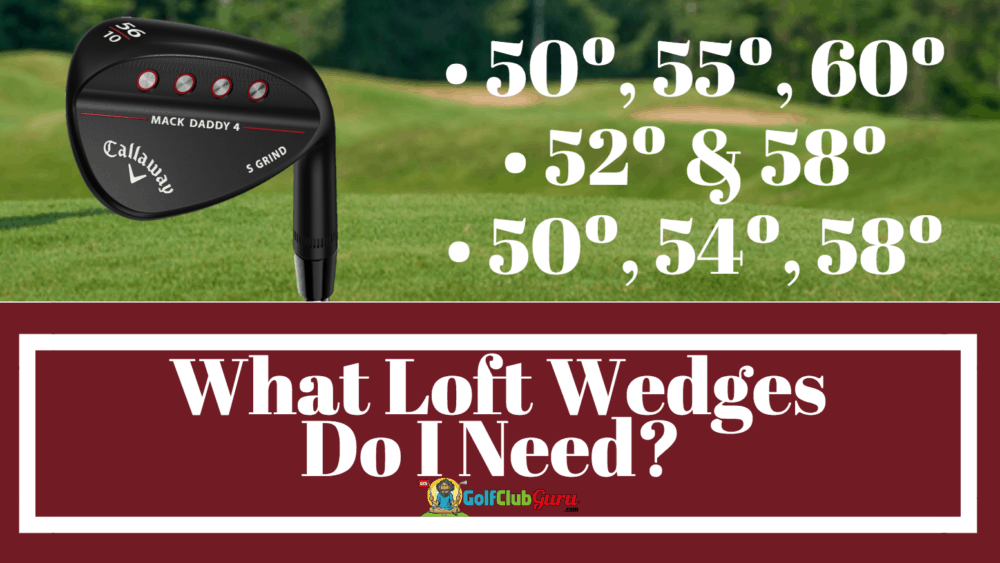 wedge lofts setup combination combo sets gap