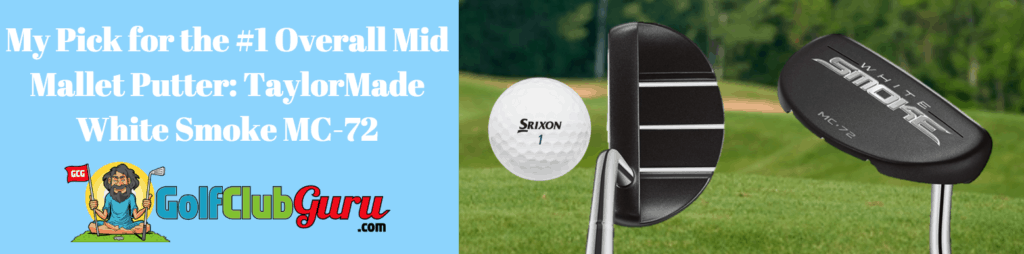 taylormade putter mid mallet