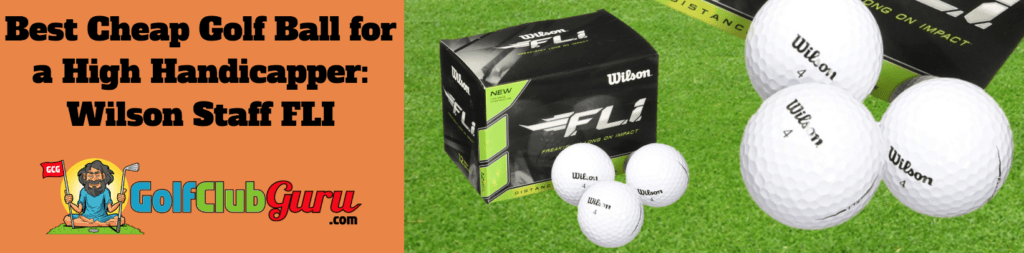 cheap golf ball for high handicappers