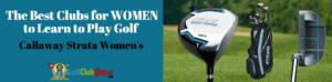 women female learn to play golf