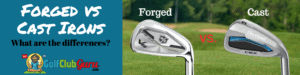 forged or cast irons in golf