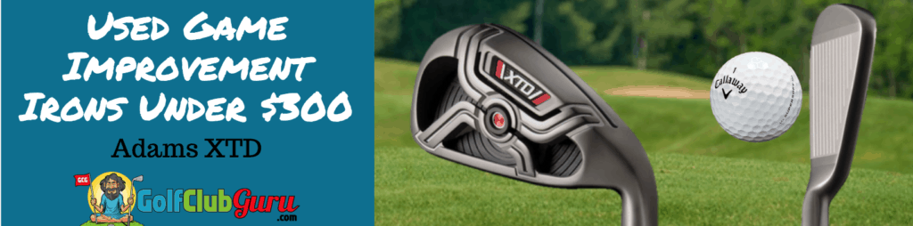 adams xtd used game improvement irons under 300