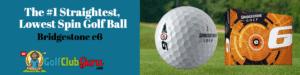 straightest low spinning golf ball bridgestone e6