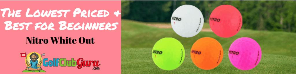 nitro cheap girls women golf balls