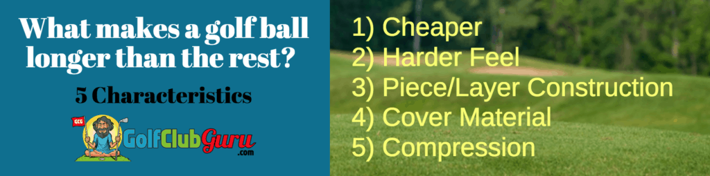 golf ball characteristics distance design