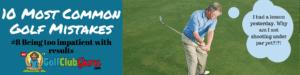golf rut upset angry