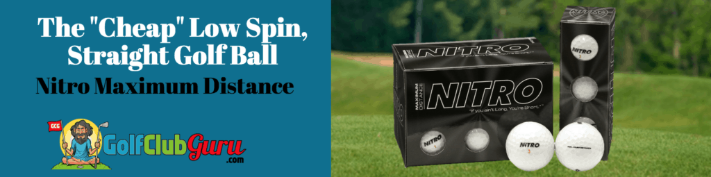 nitro maximum distance review golf ball