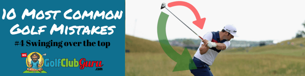 over the top golf swing fix mistake