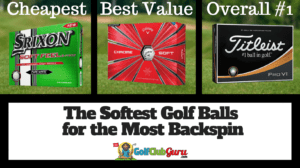 softest golf balls for backspin most spin