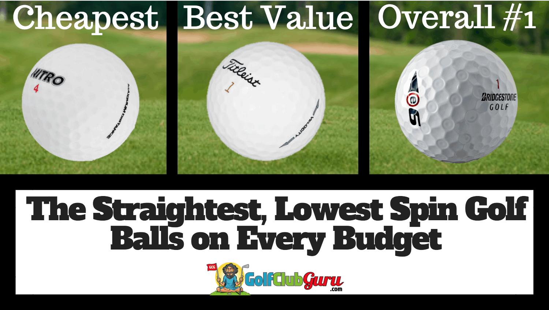 The Straightest, Lowest Spin Golf Balls | Golf Club Guru