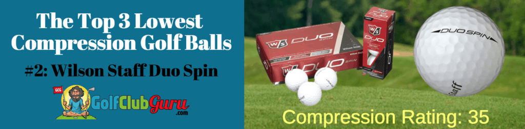 wilson duo staff spin golf balls lower compression 35
