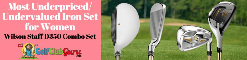 wilson women's iron set combo longest best overall 2018
