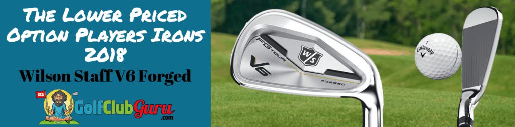 wilson staff v6 forged irons review players irons 2018