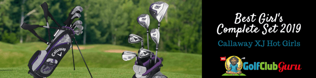 girls young beginner golf club set