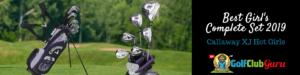 girls young beginner golf club set