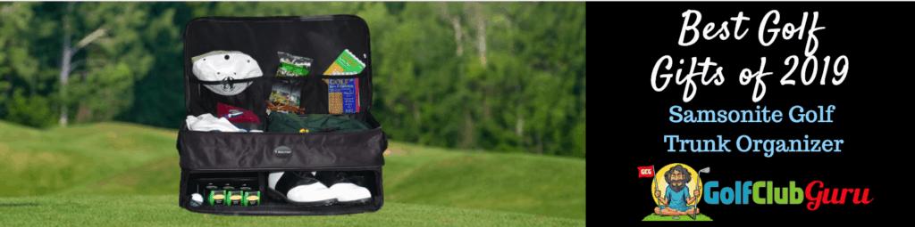 how to stay organized golf car trunk organizer