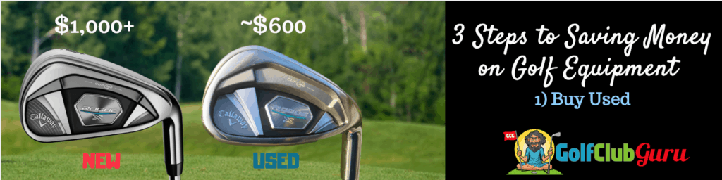 used or new golf clubs buying