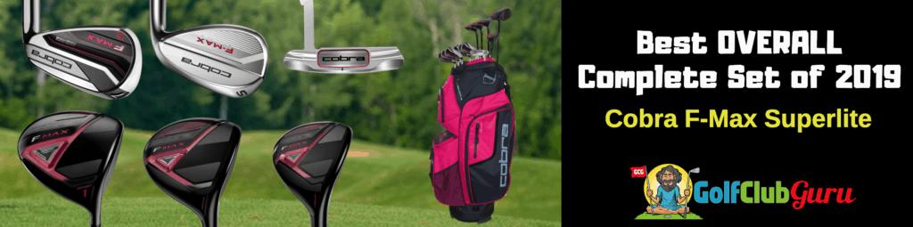 best complete womens golf set 2019 cobra f-max superlite