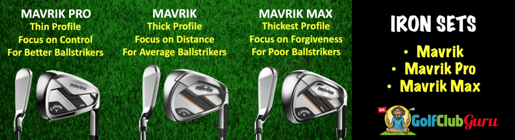 callaway mavrik vs mavrik pro vs mavrik max comparison difference