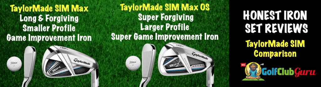 taylormade sim max vs sim max os irons comparison difference