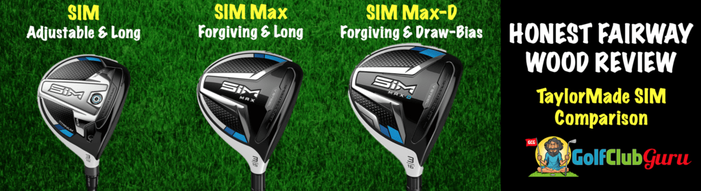 taylormade sim three wood five wood comparison
