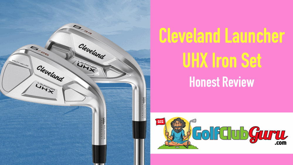 cover photo for cleveland launcher uhx irons golf
