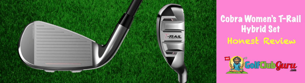 club face and sole of ladies cobra t rail trail irons