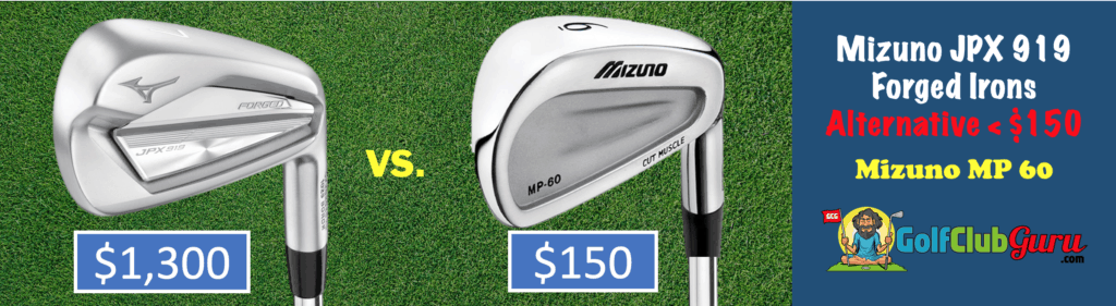 mizuno jpx 919 irons vs mizuno mp 60 blades players irons under 150