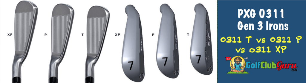 pxg 0311 t p xp differences irons