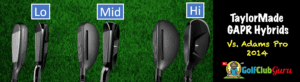 adams hybrids and taylormade design