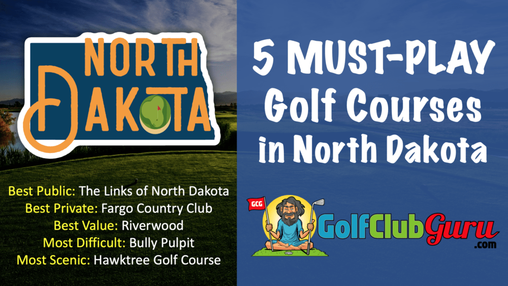 the best public private golf courses in north dakota