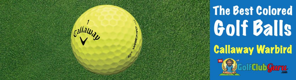 the best value colored bright yellow golf ball