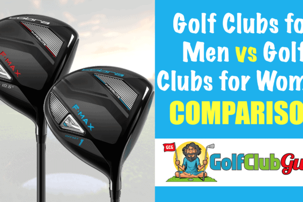 what is the difference between mens and womens golf clubs male female