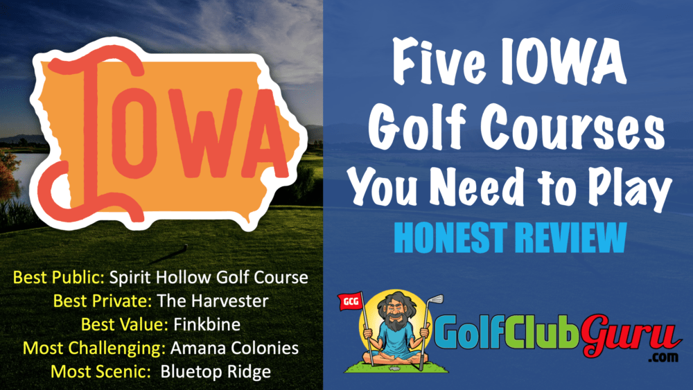 the 5 best golf courses in iowa award category winning