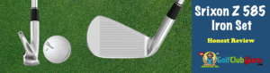 club face and sole of srixon z585 iron set