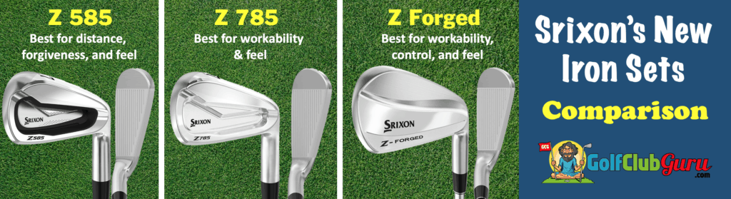 2020 srixon golf irons comparison z 585 785 forged difference