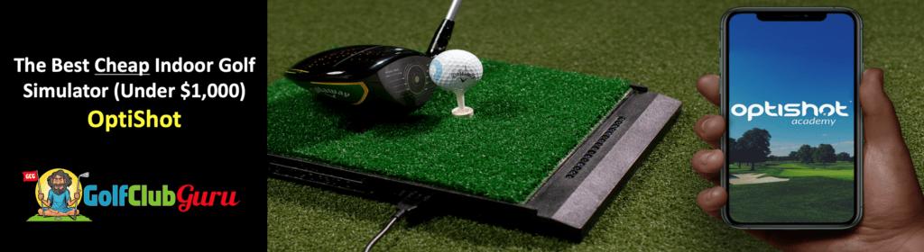 optishot 2 golf sim virtual simulator review