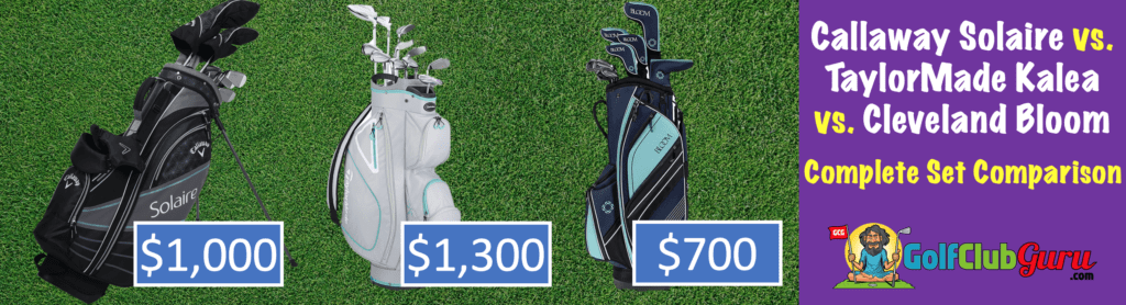 the best performing complete sets of golf clubs for women ladies females