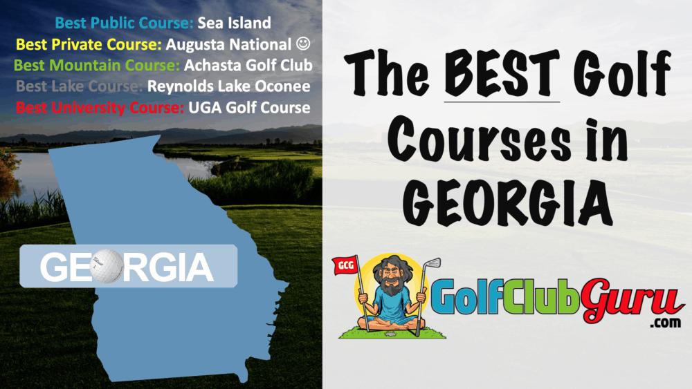 the category winning golf courses in Georgia GA