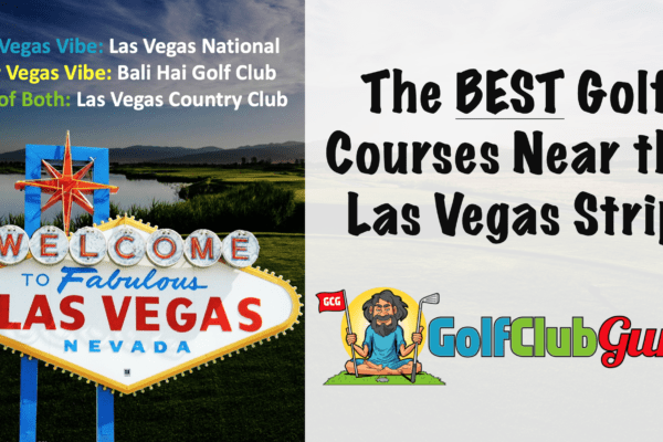 3 of the best golf courses in the las vegas strip area