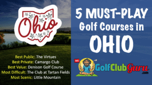 the top 5 golf courses in ohio by category