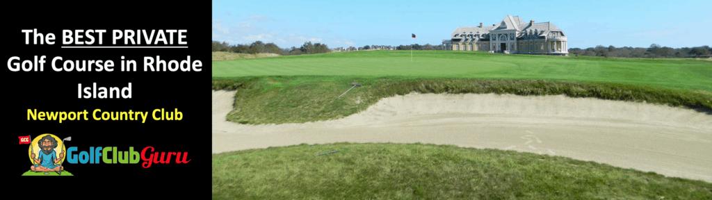 the best private golf club in rhode island newport