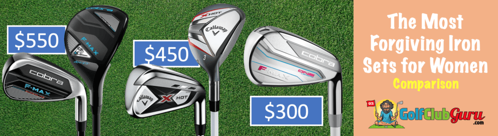 cobra f max superlite vs one length vs callaway x hot iron set comparison ladies women difference
