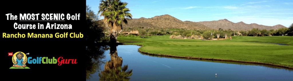 the most scenic beautiful golf course public private arizona