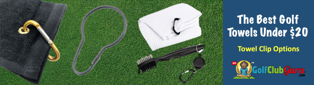 retractable golf brush towel clip