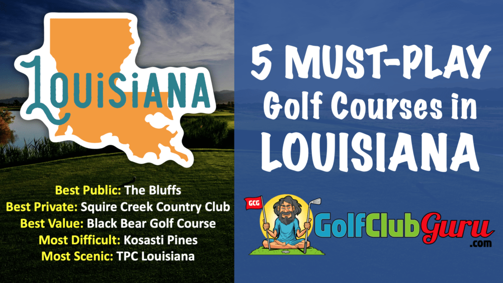 the nicest public golf courses in louisiana