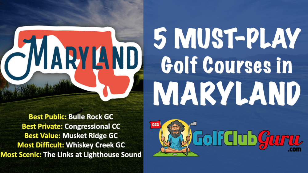 the top golf courses in maryland