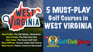 the top golf courses in the state of west virginia