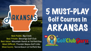 the top golf courses to play in arkansas state
